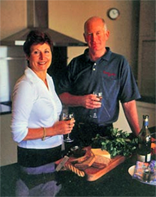 About Kay and Trevor Mitchell. Your hosts at Matahui Lodge